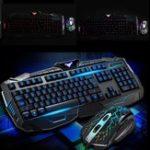 Оригинал 104Keys USB Светодиодный Gaming Клавиатура и оптический набор Мышь Набор для компьютерных ПК Gamer