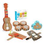Оригинал 6 в 1 Makeblock STEAM RC Робот Игрушки Развивающие Подарочные Барабан Укулеле Браслет Облако Ксилофон