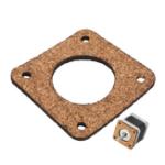Оригинал Machifit 2 / 3mm Cork Wood Амортизатор Антивибрационный Мотор Демпфер для Nema 17 42mm Stepper Мотор