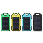 Оригинал 12000mAh Солнечная Power Bank Батарея Быстрое зарядное устройство Dual USB SOS Светодиодный