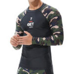 Оригинал Men's Swimwear Camouflage Long Sleeve Swimsuit