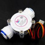"Оригинал 3/8 ""Quick Fit Plastic TurbineHall Meter Расход воды Датчик Для Жидкости Воды Id10 мм"