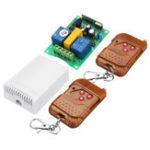Оригинал 433 МГц 220 В 2-канальный беспроводной коммутатор Дистанционное Управление Контроллер Gate Up Down Мотор Обратный код обучения с AK-DJZFZ + AK-TF03 Передат