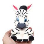 Оригинал Zebra Squishy 13CM Черно-белые полосы Медленно растущие отскок игрушки с упаковкой подарочный декор