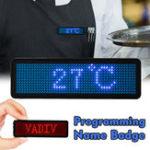 Оригинал LED Именной знак с Магнит и прокруткой клипсой Дисплей Сообщение Знак Точки Аккумуляторная светодиодная бирка с именем