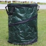 Оригинал 45 * 75см PE сплетенный складной портативный Сад листьев мусор Сумка может хранения ведро