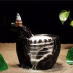 Оригинал Черный Керамический Будильник с обратным потоком и 10 конусов