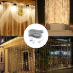 Оригинал 3 м * 3 м 320 LED водопад занавес строка праздник свет для Свадебное день святого валентина AC110V