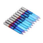 Оригинал Drillpro10шт.0,1мм0,2мм40-градусныйгравировальный наконечник синий Nano с твердосплавным покрытием плоская нижняя печатная плата гравироваль