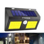 Оригинал 100 COB LED Солнечная Мощность настенного светильника PIR Motion Датчик Сад Безопасность На открытом воздухе Двор