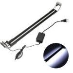 Оригинал 8 Вт 50 см Регулируемый 2835 LED Аквариум Аквариум Супер Тонкий Свет Лампа Черный