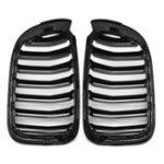 Оригинал Пара Матовый Черный Двойная Линия Передняя Решетка Для Почек Для BMW F25 F26 X3 X4 2014-2018