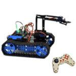 Оригинал DIY Arduino STEAM Программируемый Смарт RC Робот Авто Arm Tank Обучающие Набор