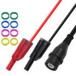 Оригинал P1204 Соединительная линия BNC Banana Plug с полной изоляцией Сопротивление 50 Ом Q9 Соединительный коаксиальный кабель RG58