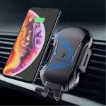 Оригинал FLOVEME 10W Автоматическое зажимание Qi Беспроводное зарядное устройство Авто Для iPhone X Xs Max S9 Note 9 Xiaomi Mix 3