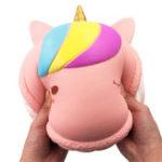 Оригинал 9.8Inches Squishy Macaron Unicorn Jumbo 25cm Långsam Rising Toy Soft Djurkaka Presentsamling
