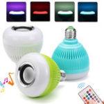 Оригинал AC100-240V E27 Colorful Home Bluetooth LED Лампочка Music Globe + 24 клавиши IR Дистанционное Управление
