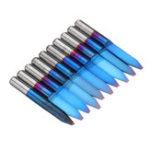 Оригинал Drillpro10шт0.1-1.5мм30градусовгравировка печатной платы бит синий Nano с покрытием твердосплавный фрезерный станок с ЧПУ с плоским дном Инстр