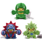 Оригинал 9 Inches Kawaii Фаршированная плюшевая игрушка Cute Furry Кукла Soft Коллекция подарков Пикачу