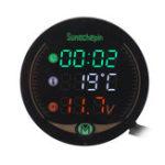 Оригинал 9 В 12 В-19 В 3 В 1 LED Время Температура Напряжение мотоцикл Авто Метр Дисплей Стол Ночного Видения