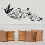 Оригинал SK9082 Wall Sticker Birds Silhouette Sitting Room Bedroom Glass Background Decor Removeable Wall Stickers