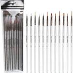 Оригинал Zhongsheng Silver Short-Pole Nylon Акварель Водный Порошок Эскиз Рисунок Ручка Цифровой Рисунок Ручка 12 Шт. Костюм