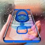 Оригинал BakeeyМагнитныйАвтоДержательКольцаДержатель Тонкая Цветная Обшивка Soft ТПУ Защитный Чехол Для Huawei Mate20