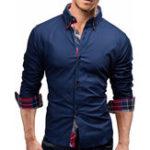 Оригинал Mens Classic Рубашки с длинным рукавом