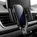 Оригинал Baseus Закаленное стекло Поверхность Gravity Linkage Auto Замок Авто Держатель Подставка для iPhone Xiaomi Mobile Phone