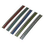 Оригинал 500шт 5 цветов 100 каждый 0805 LED диодный ассортимент SMD LED диодный Набор зеленый / красный / белый / синий / желтый