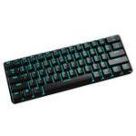 Оригинал Maibenben QRTECH 61Клавиши 60% Переключатель Outemu Blue Механический Gaming Клавиатура ICE Blue Backlit Type-c Клавиатура