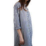 Оригинал Женское Плед на пуговицах Рубашка Мини Платье