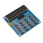 Оригинал TM1638 3-проводной 16 ключей 8 бит Клавиатура Кнопки Дисплей Модуль цифрового Трубка Сканирование платы и ключ LED для Arduino
