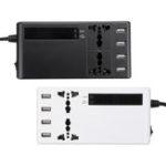 Оригинал Инвертор 12 В 220 В LCD Дисплей Вт / 2 универсальных разъема и 4 порта USB для зарядки