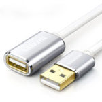Оригинал SAMZHE Белый удлинительный кабель USB 2.0 USB-кабель-удлинитель Кабель для передачи данных 0,5 м / 1 м / 1,5 м / 2 м
