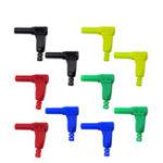 Оригинал 10 шт. P3014 4 мм Защитный кожух Banana Plug 90 градусов прямоугольный штекер
