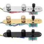 Оригинал Telecaster Guitar Panel Direct Control Пластина 3-х полосный переключатель с жгутом проводов Ручки Хром / Золото / Черный