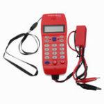 Оригинал Тестер кабеля телефонной линии NF-866 с экраном Дисплей Tele Fiber Optical Инструмент Проверка идентификации вызывающего абонента DTMF Автоматическое