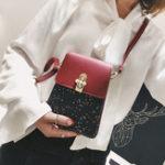 Оригинал Женское Bling Слепой искусственная кожа Портативный плечо Сумка Чехол для телефона для iPhone Xiaomi Nokia Huawei