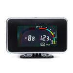 Оригинал 12V 24V 2 In 1 LCD Авто Цифровой манометр Напряжение Давление Измеритель температуры воды M10