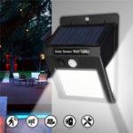 Оригинал LED Солнечная Power Light PIR Motion Датчик Сад Двор Стена Лампа Безопасность На открытом воздухе