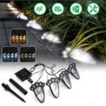 Оригинал 4 In1 Солнечная Powered LED Собака Paw Print Lights Сад На открытом воздухе Двор для газонов Лампа