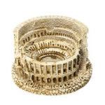 Оригинал DIY Resin Mini Римский Колизей Скульптура для домашнего украшения стола Сувенир