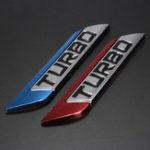 Оригинал 3D Metal Turbo Logo Авто Наклейка с изображением эмблемы крыла, красный / синий