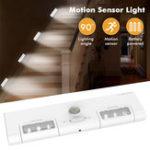 Оригинал [БатареяУправляется]KCASAKC-LT1LEDБеспроводной PIR Motion Датчик Шкаф Шкаф Шкаф Лампа 6 LED Угол освещения 90 ° для Hone / Garage / Entry / Hallway / Basem