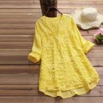 Оригинал Необычная блуза с цветочной вышивкой
