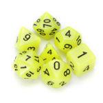 Оригинал 7 шт. Многогранные кубики с яркими многогранными кубиками Набор многогранных кубиков с кубком для ролевых игр RPG Gadget