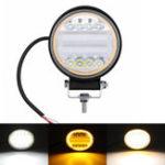 Оригинал 126W LED Work Light Yellow Beam Лампа DRL Amber Angel Eye Light Для Авто мотоцикл Внедорожник
