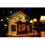 Оригинал IIE CREATE DIY Кукла Дом K017 Время Гравировки 30 * 9 * 27 см С Мебелью Легкая Музыкальная Крышка Подарочная Коллекция