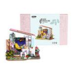 Оригинал Robotime DG11 Лили крыльцо DIY Кукла Дом 27 * 23 * 22 см с миниатюрной мебелью Коллекция подарков декора